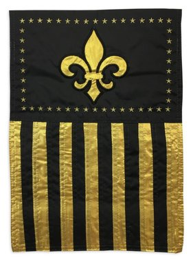 Black And Gold Garden Flag