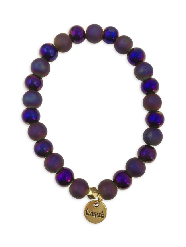 Matte Purple Stretch Bracelet
