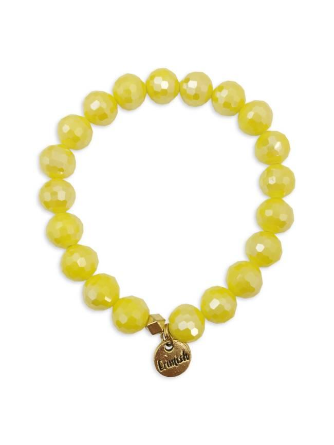 Yellow Sparkle Stretch Bracelet