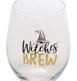 Halloween Wine Glass, Witches Brew