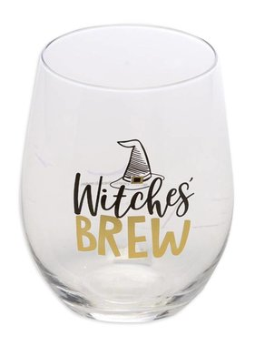 Halloween Wine Glass, Witches Brew