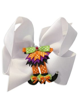 Halloween Witch Legs Hair Bow