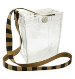 Clearware Crossbody Bag, Black & Gold