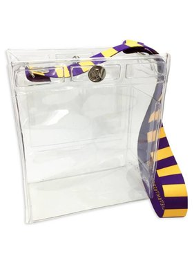 Clearware Classic Bag, Purple & Gold
