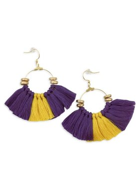 Hey Fightin' Tigers Tassel Earrings