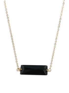 Black Stone Bar Necklace