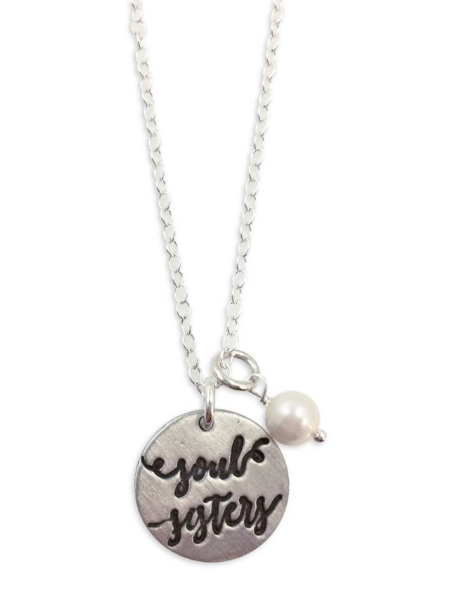 Soul Sisters Pewter Necklace