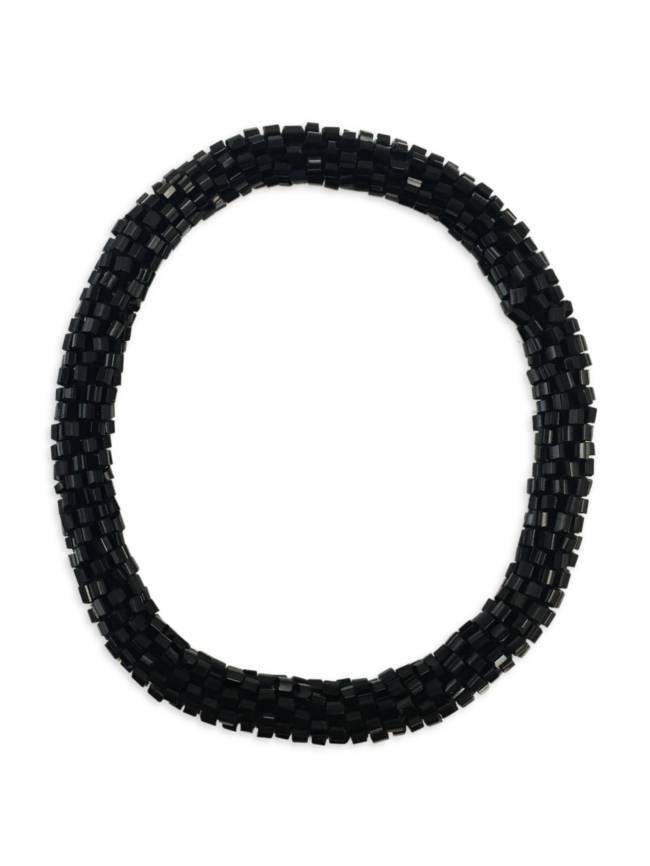 Black Nepal Roll On Bracelet
