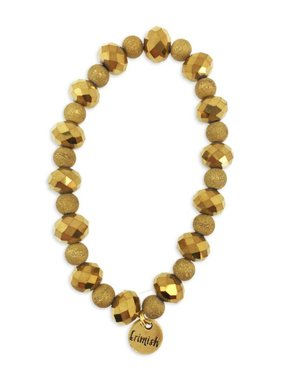 Gold Mix Bead Stretch Bracelet