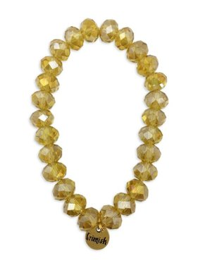 Gold Sparkle Bead Stretch Bracelet
