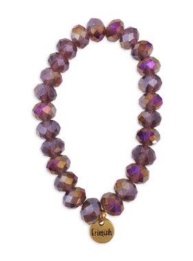 Purple Sparkle Bead Stretch Bracelet