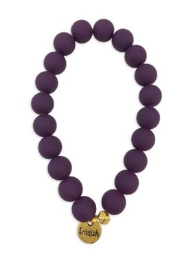 Purple Round Bead Stretch Bracelet