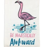 Majestically Awkward Flamingo Towel