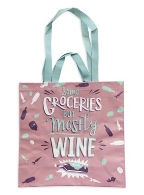 Mostly Wine Market Tote Bag