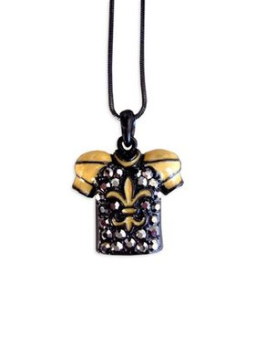 Black & Gold Jersey Necklace