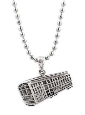 Sterling Silver Streetcar Pendant Necklace