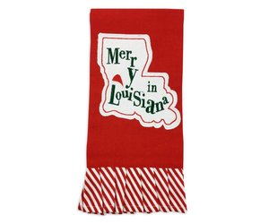 Merry In Louisiana Christmas Towel - Fleurty Girl