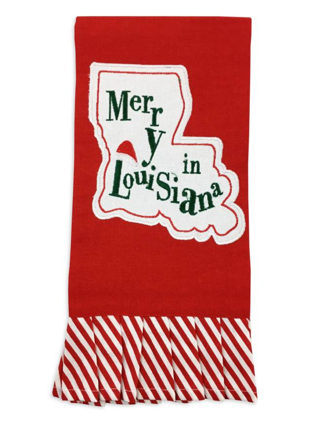 Merry In Louisiana Christmas Towel