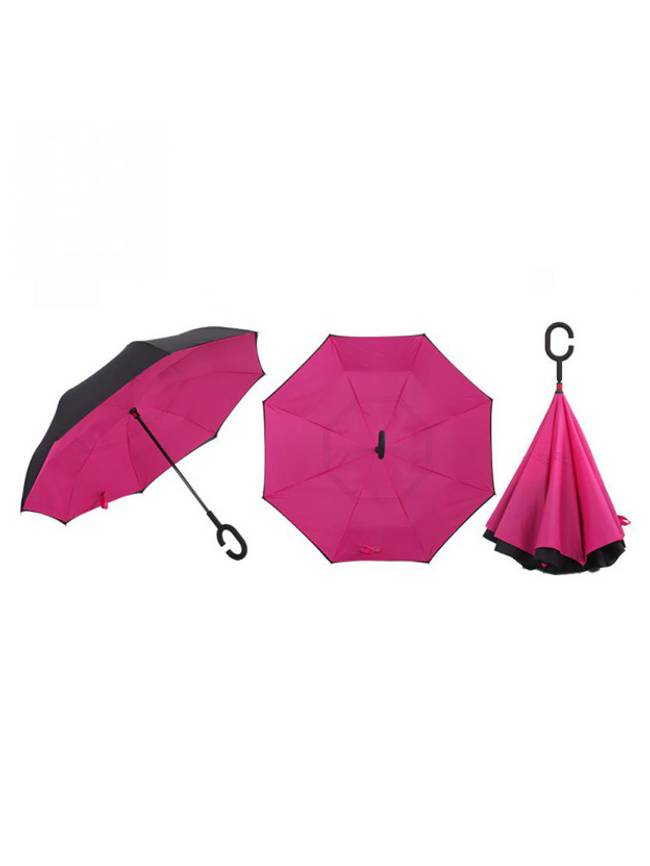Topsy Turvy Inverted Umbrella, Pink