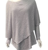 Poncho Sweater in Ice Grey