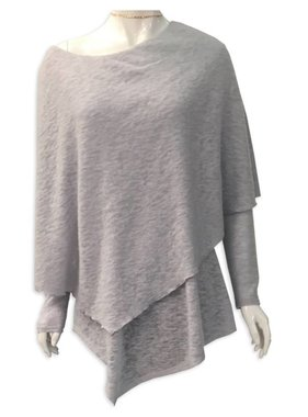 Poncho Sweater in Ice Grey PRE-SALE