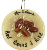 Red Beans & Rice Salt Dough Ornament