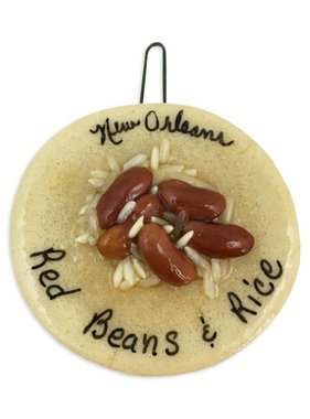 Red Beans & Rice Salt Dough Ornament