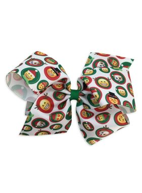 Christmas Emoji Hair Bow