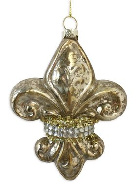 Mercury Glass Fleur de Lis Ornament