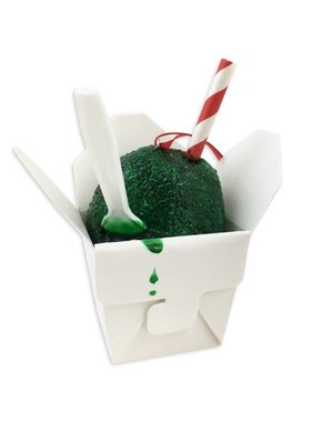 Green Snoball Christmas Ornament