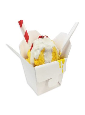 Yellow Snoball Christmas Ornament