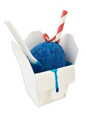 Blue Snoball Christmas Ornament