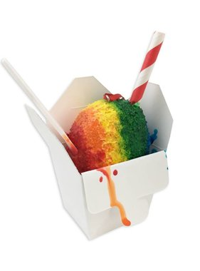 Rainbow Snoball Christmas Ornament