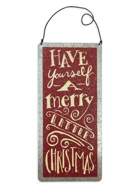 Merry Little Christmas Metal Plaque