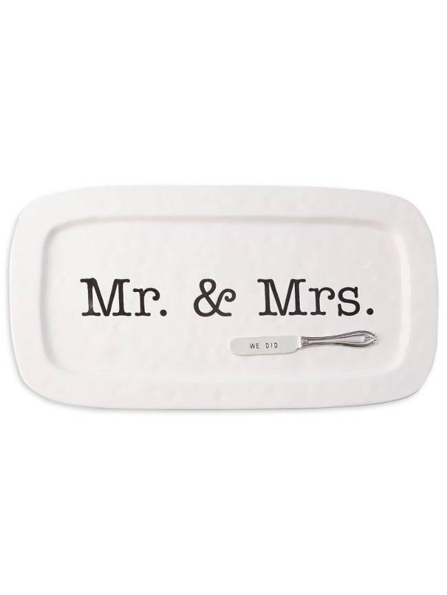 Mr. & Mrs. Wedding Hostess Tray Set