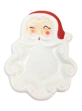 Ceramic Vintage Santa Dish