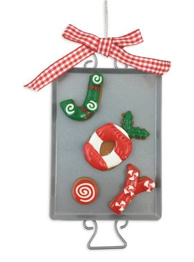 Clay Dough Holiday Cookie Ornament, Joy
