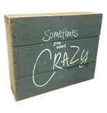 Sometimes You Need Crazy Pallet Sign