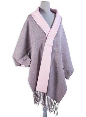 Grey & Pink Reversible Sweater Scarf