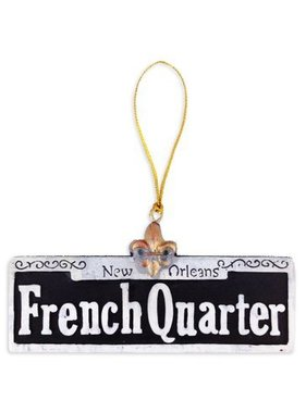 French Quarter Street Sign Christmas Ornament