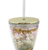 Pink & Green Ombre Travel Tumbler