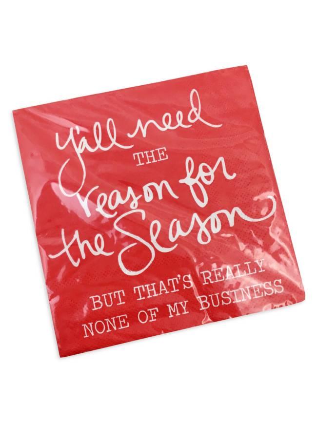 Y'all Need the Reason Christmas Napkins
