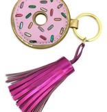 Donut Keychain with Tassel