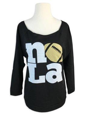 NOLA Love Football Long Sleeve Sweat Tee