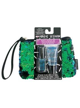 Magic Sequin Beauty Wristlet, Mermaid