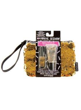 Magic Sequin Beauty Wristlet, Gold