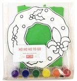 Home Malone Ho Ho Ho To Go Art Kit for Kids, Christmas Wreath