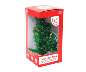 deck your desk led usb christmas tree fleurty girl