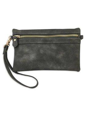 Hobo Wallet with Crossbody Strap, Bronze