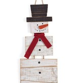 Snowman Wood Slat Wall Hanging